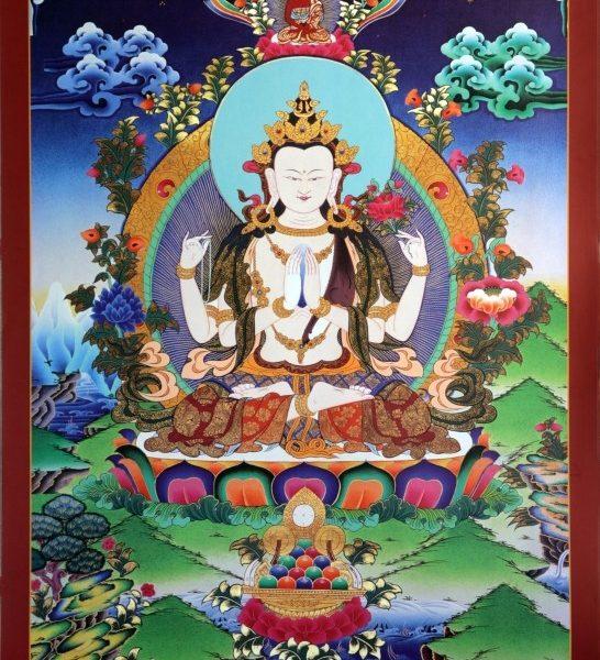 Avalokitešvara (4 rankomis)